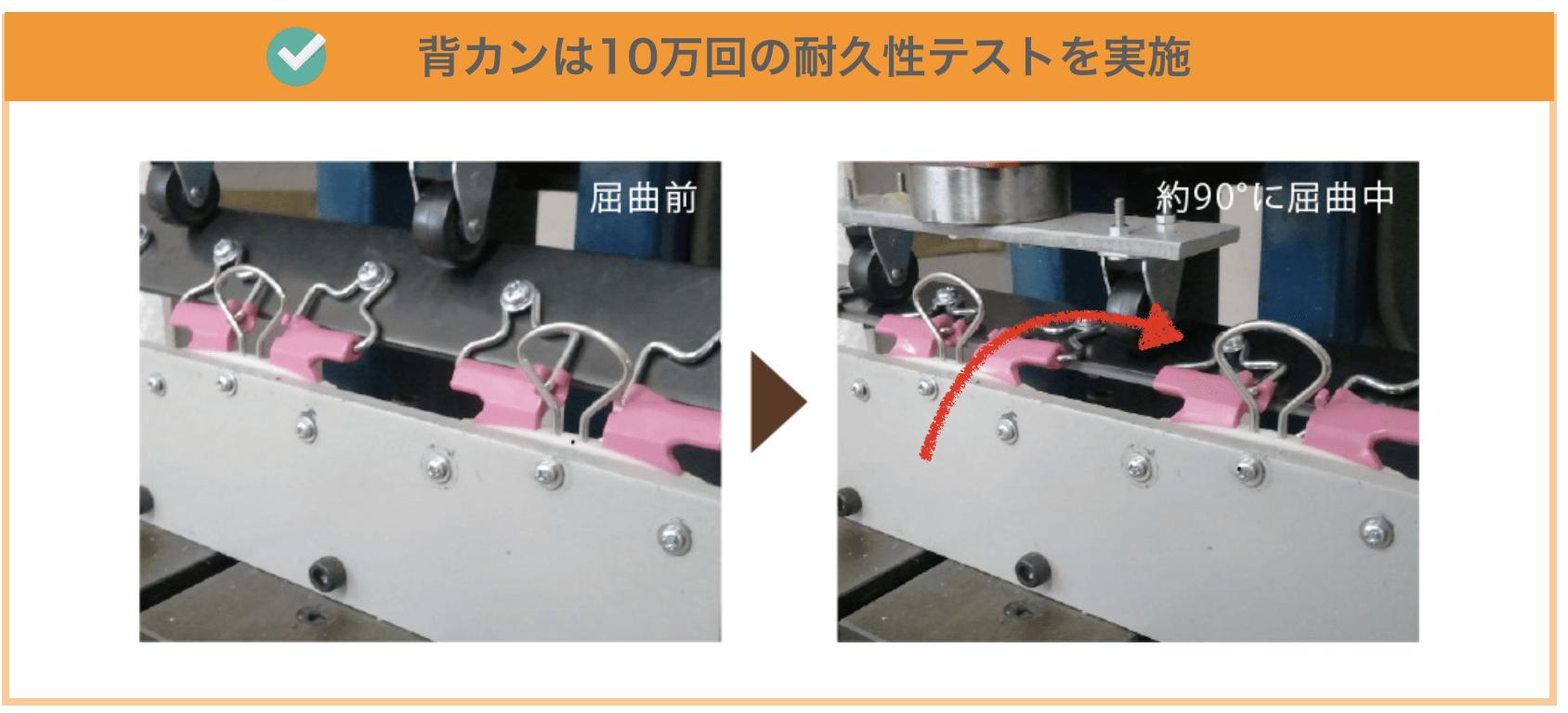 フィットちゃんの背カンの耐久テスト