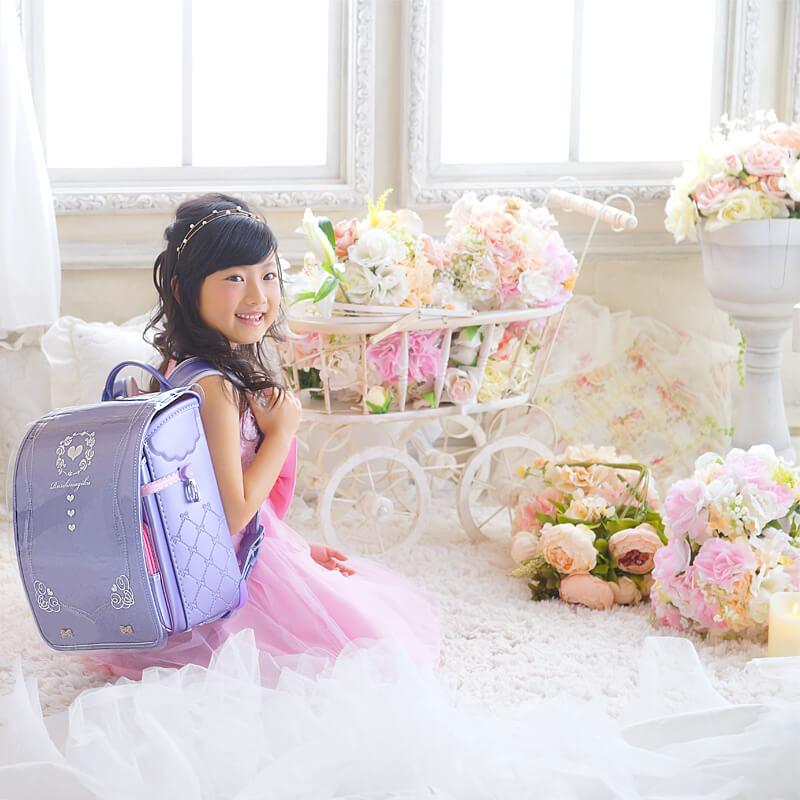 京都瑠璃雛菊のランドセルカバーのイメージ