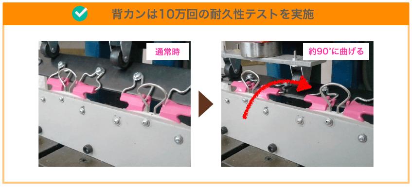 フィットちゃんの「背カン」の耐久テスト