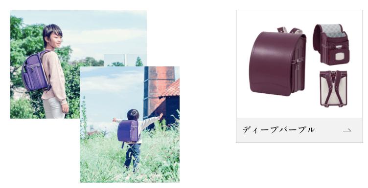 男の子用紫のランドセル2種
