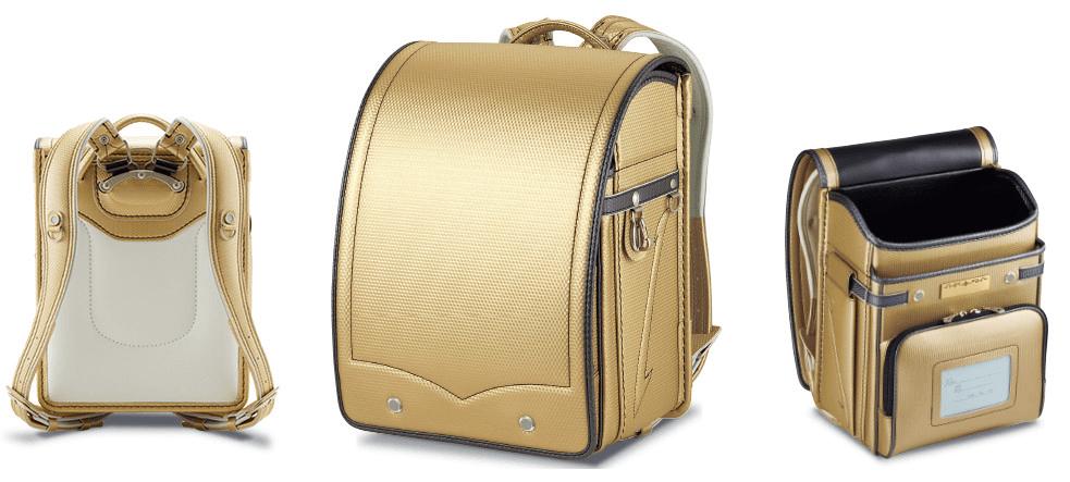 萬勇鞄のゴールドのランドセル