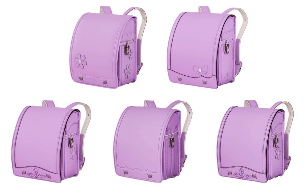 鞄工房山本の紫色のランドセル