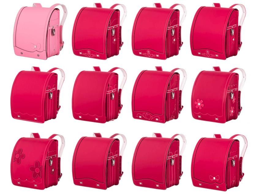 鞄工房山本のピンクのランドセル