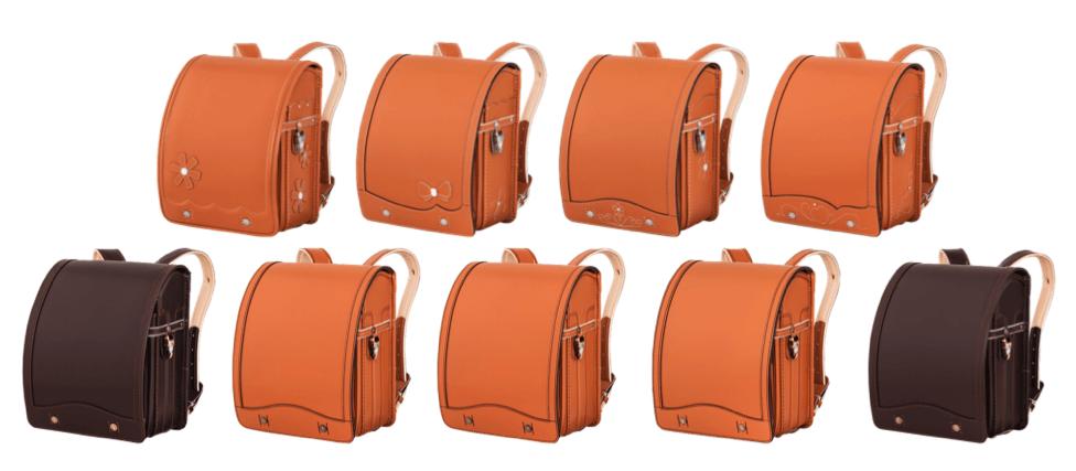 鞄工房山本の茶色のランドセル