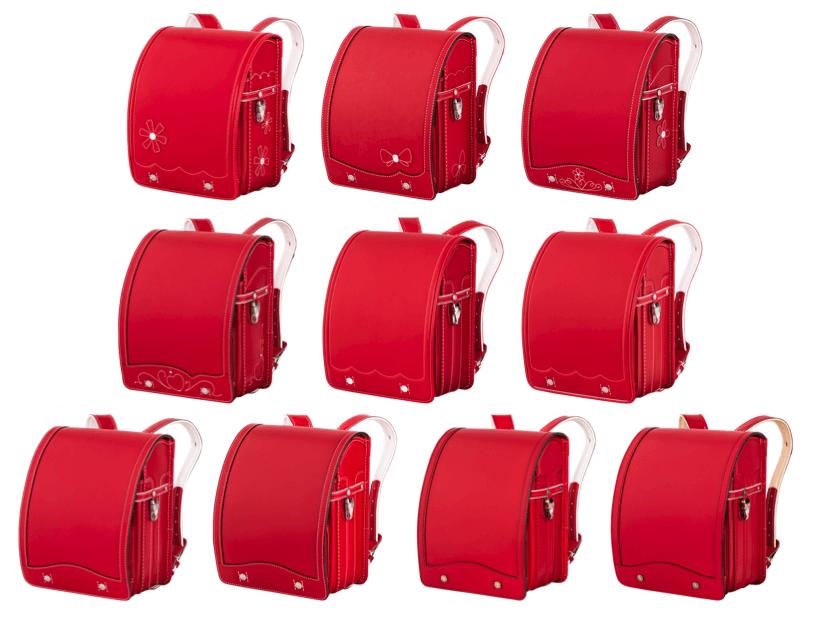 鞄工房山本の赤のランドセル