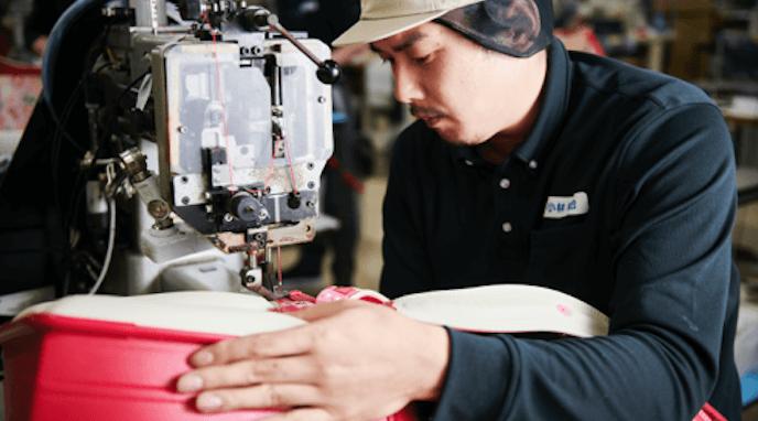 セイバンのランドセルの制作過程