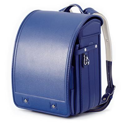 黒川鞄のシボ牛革ブルー2021