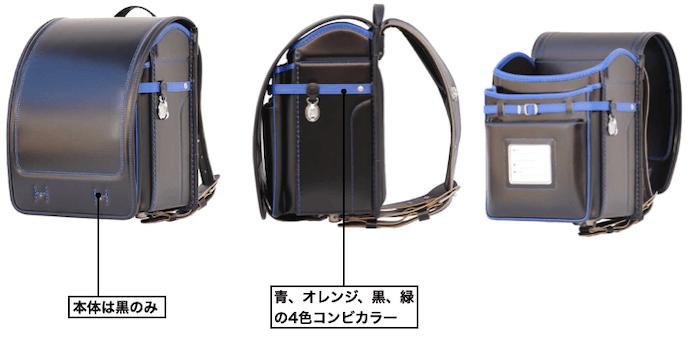 横山鞄のイタリア製牛革カラードバック